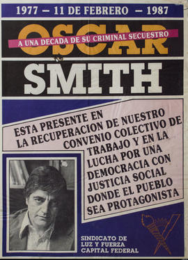 A una década de su criminal secuestro, Oscar Smith