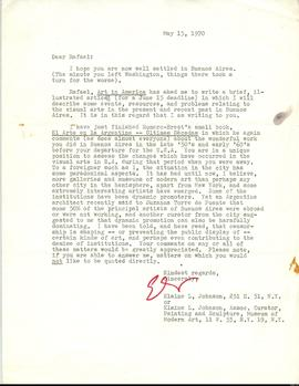Carta de Elaine L. Johnson a Rafael Squirru
