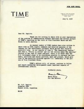 Carta de Marie Barry a Rafael Squirru