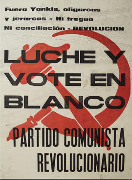 Luche y vote en blanco