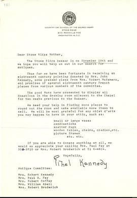 Carta de Ethel Kennedy