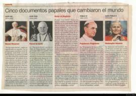 Cinco documentos papales que cambiaron el mundo